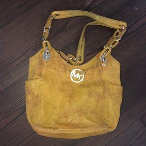 Michael Kors Water damaged yellow&gold bag